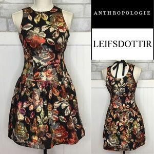 Anthropologie beautiful metallic party Dress